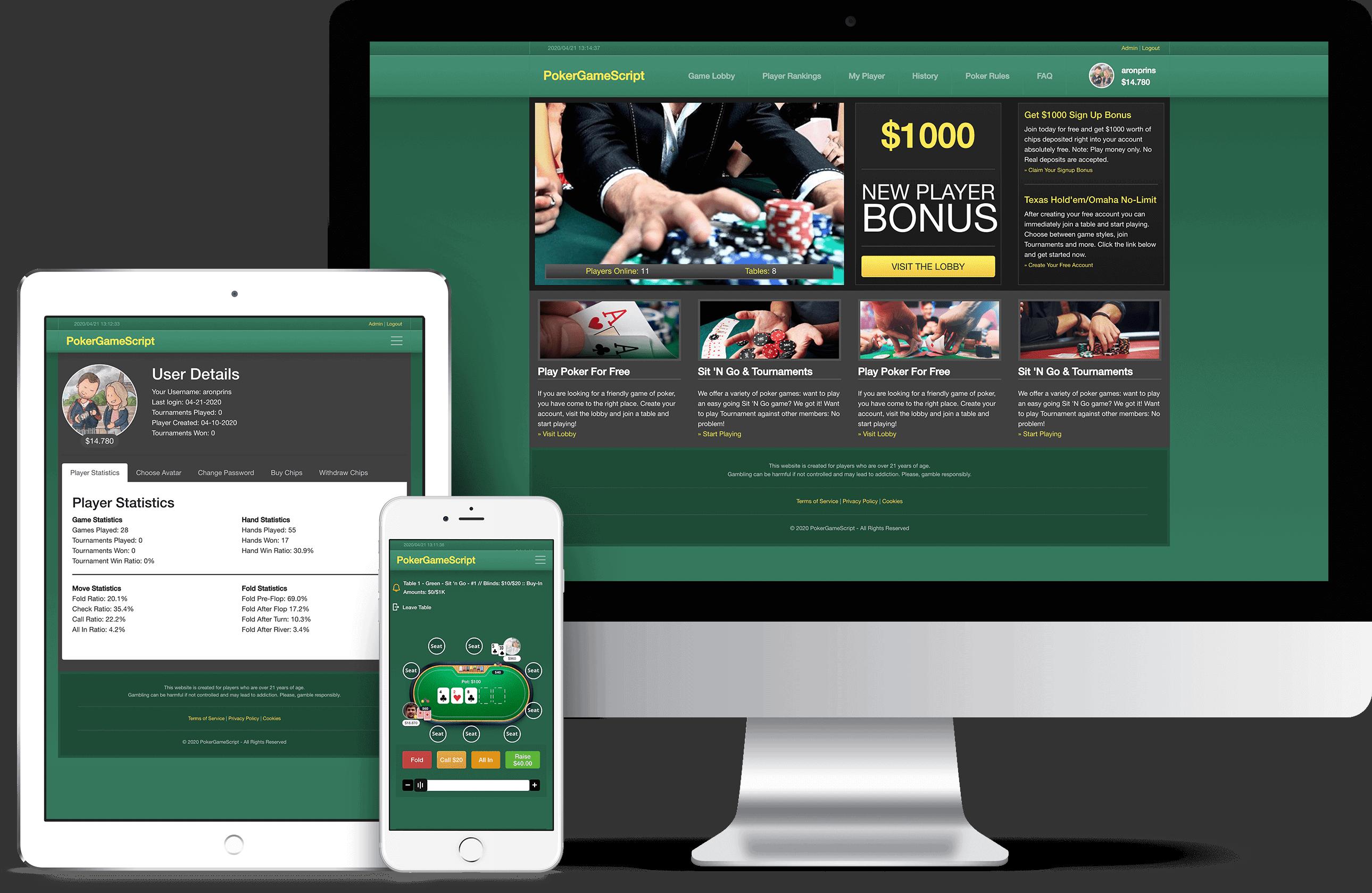 Online Poker Script Product DVD
